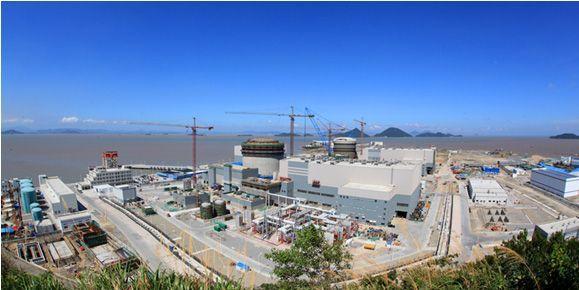 建设中的三门第三代AP1000核电站