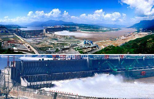 壮观的三峡水利工程全景