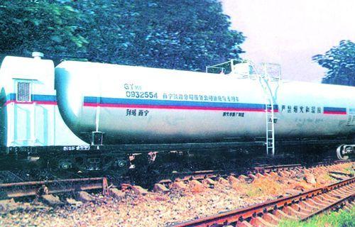 西安车辆厂制造的系列铁路罐车